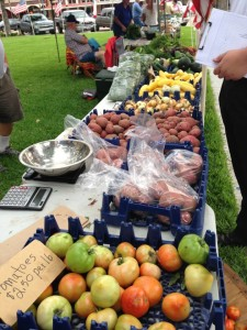 Produce for sale at the La Grange Farmers Market