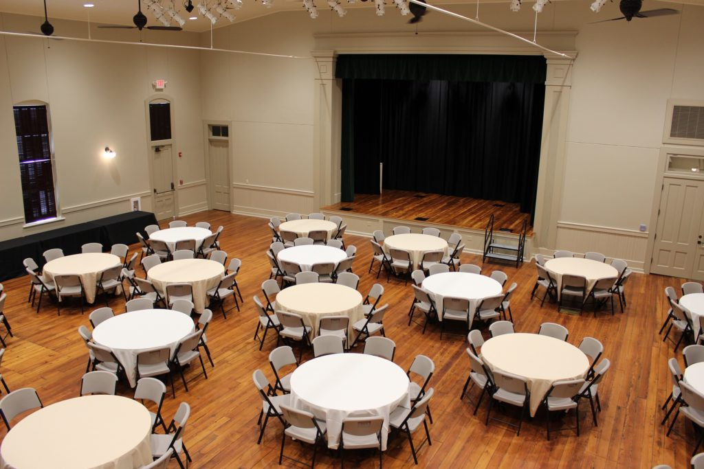 The newly renovated event and performance space